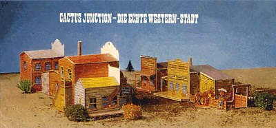 Western-Stadt von Lucky Luke - Cactus Junction